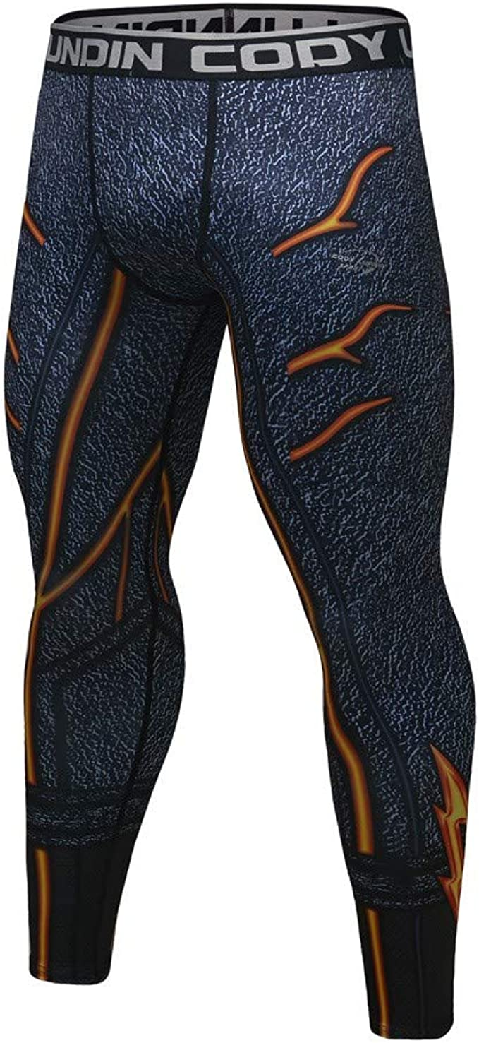 Houshelp Men S Compression Pants Warm Dry Sports Tights Baselayer Running Leggings Thermal Winter Waistband Legging
