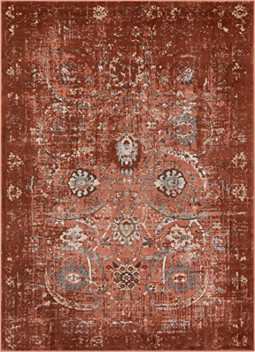 Well Woven KE-60 Vintage Distressed Rust Kensington Goa Copper Modern Oriental Area Rug 3'11