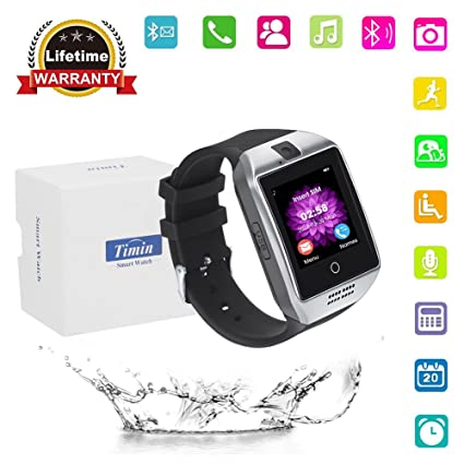 Smart Watch, Bluetooth Touch Screen Smartwatches Support SIM/TF Card Camera  Pedometer Sleeping Monitor Facebook Whatsapp Sports Fitness Tracker For