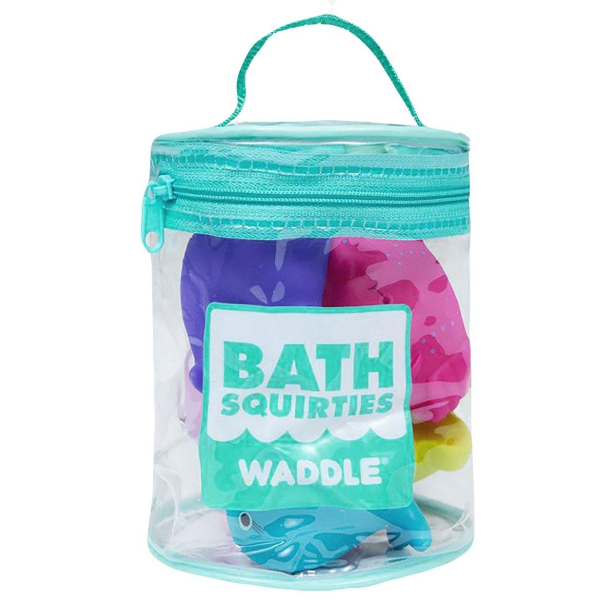 Waddle Transportation Bath Squirter Toys Boys Cars Trucks 6 Pack Bathtime Gift WAD-BATH-TRANSPORT