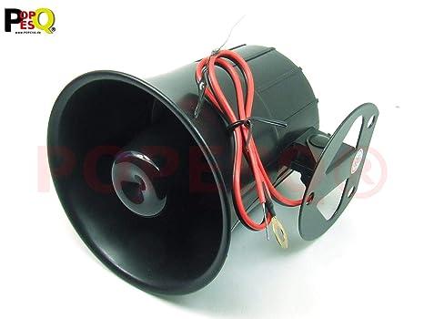POPESQ® 1 Piezas x Alarma Sirena 118dB 105mm 12V 6 Tonos ...