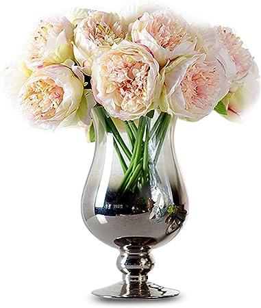 Mazzo Di Fiori Elegante.Tininna Elegante Tocco Reale Artificiali Bouquet Di Peonie In Seta