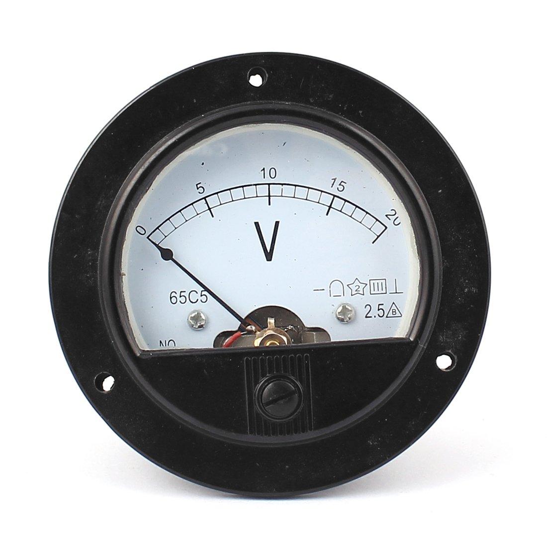Sourcingmap Dc 0 20v Rund Simulation Paneel Meter Strom Stromspannung Messer Voltmeter De De Gewerbe Industrie Wissenschaft
