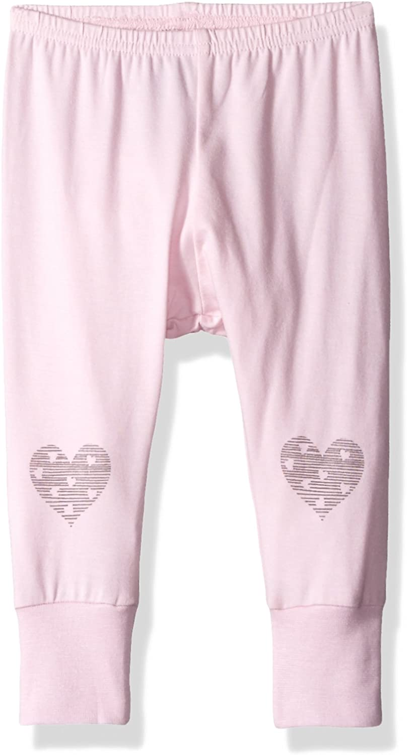 Coccoli Baby Girls Heart Jersey Knit Cotton Modal Legging
