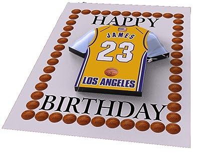 Tarjetas de cumpleaños magnéticas con diseño de camiseta de baloncesto