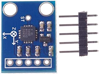 Accéléromètre de Sortie analogique 3 Axes GY-61 ADXL335 Transducteur Angulaire 3-5V Triaxial Inclinaison par gravité pour Module de capteur Arduino - Bleu