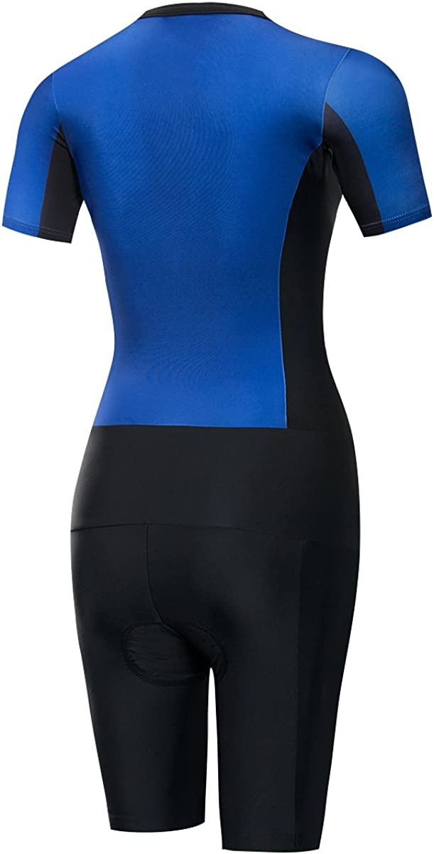 Lo.gas Womens Triathlon Trisuit Sleeved Sleeveless Skinsuit for Cycling Swimming Running