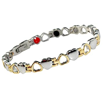 Drkao Titanium Magnetic Therapy Bracelet for Women Pain Relief Weight Loss  Migraine Relief Anxiety Relief Anxiety f35fd1c5d