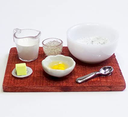 Eggs /& Whisk Set Dolls House Miniature 1:12th Scale Bowl