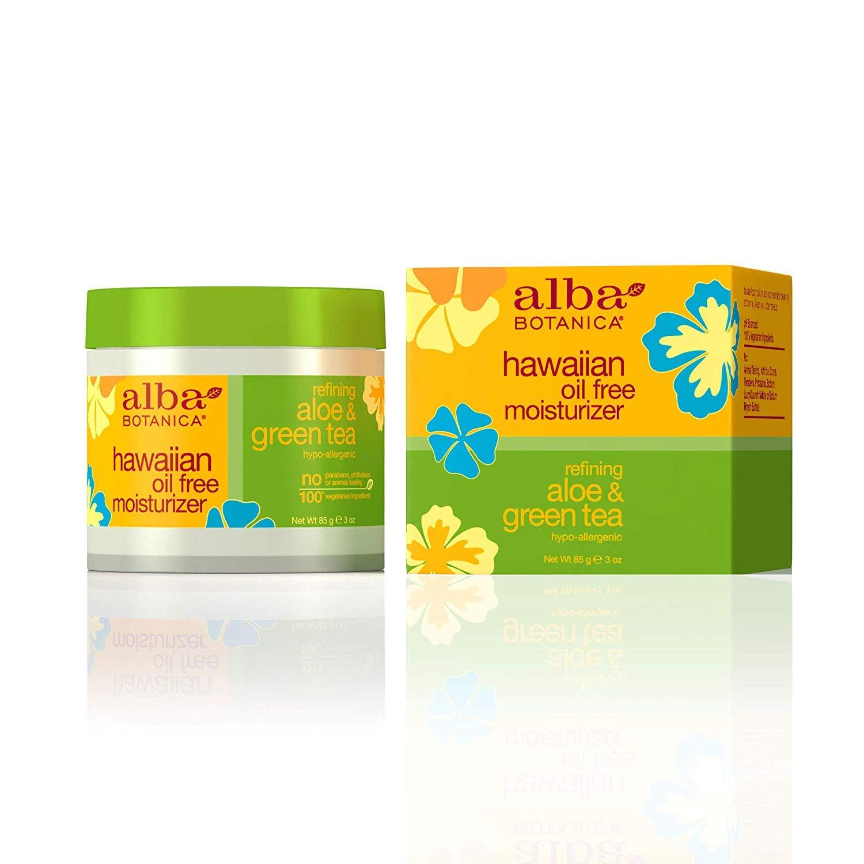 Alba Botanica Hawaiian Aloe & Green Tea, Oil-Free Moisturizer