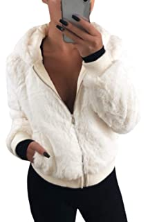 Zilcremo Women Loose Hooded Colorblock Jackets Long Sleeve Coat Outerwear