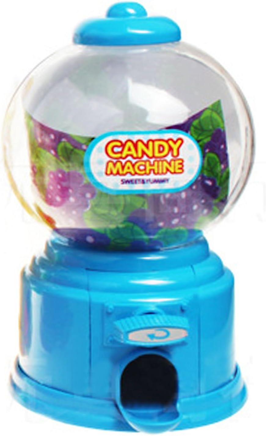 Gosear Mini Máquina Expendedora de Habas de Jalea Chicles Gomitas Azúcar Caramelo de Gumball/Dispensador de Snack para Novedad Fiesta Cumpleaños Regalo Juguetes para Niños,Azul