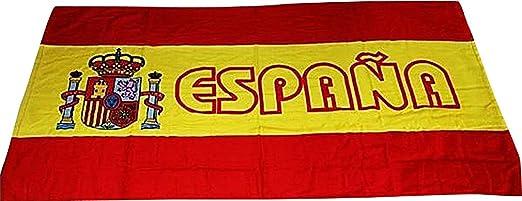 Towelz, tamaño Extra grande de baño toalla de playa algodón de fútbol de la bandera de España TW03: Amazon.es: Hogar