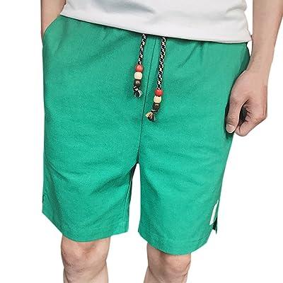 Hankyky Hommes Maillots De Bain Shorts Été Plus La Taille Solide Couleur Plage Occasionnel Linge Cordon Shorts