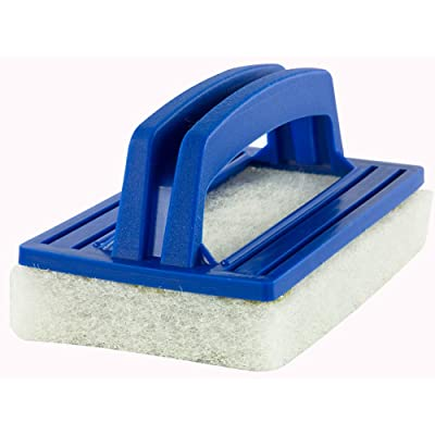 Aqua Select Hand Held Scrub Brush | Soft Foam Cleaning Surface | Designed to Clean The Acrylic or Tile Surfaces of Inground and Above Ground Swimming Pools | Safe to Use on Vinly Pool Liners : Garden & Outdoor