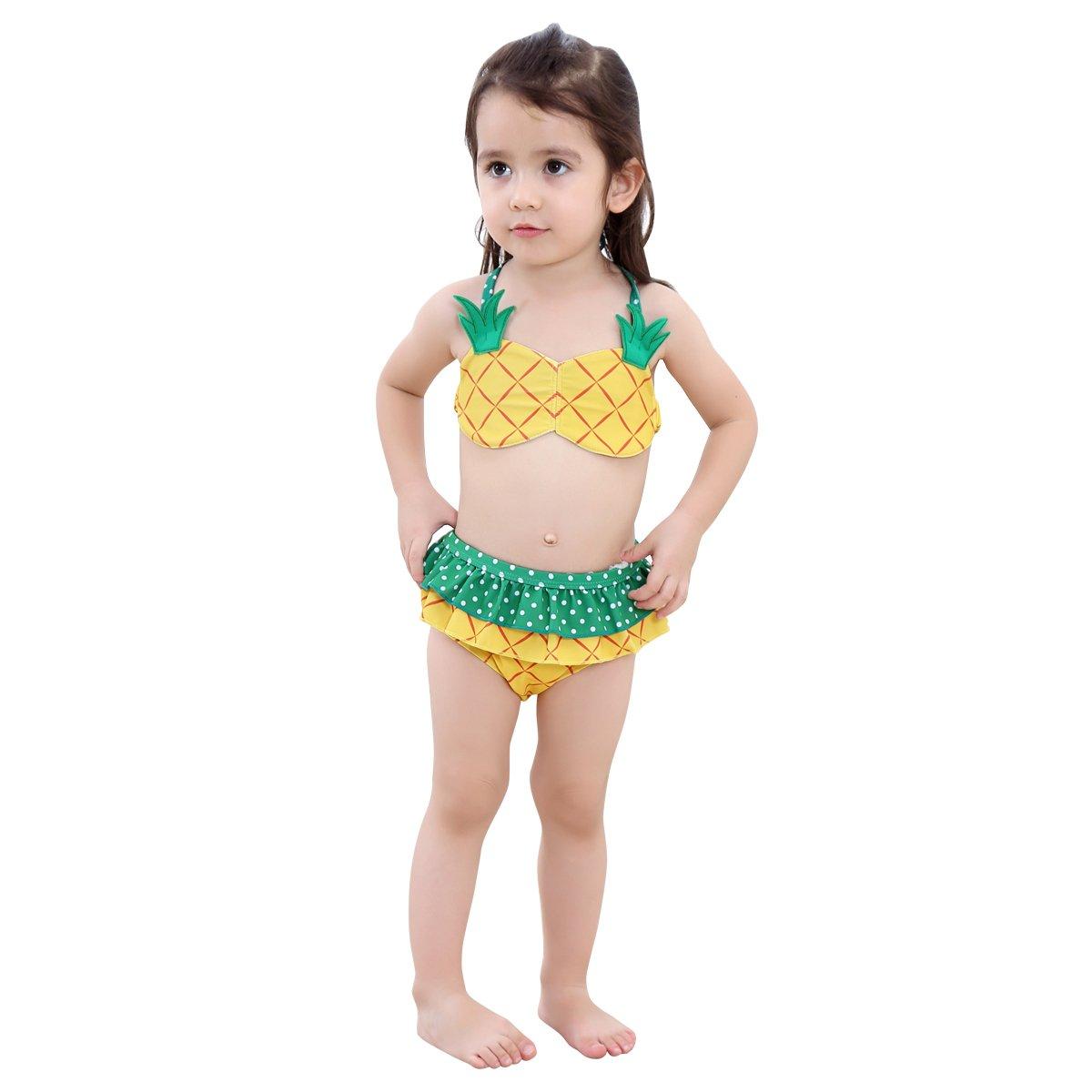 Amazon.com: kanodan Lovely para niña conjunto de bikini ...