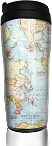 Atlas World Map Mothers Day Gift for Mom Aunt,Travel Mug Tumbler With Lids Thermos Coffee Cup Vacuum Insulated Flask Stainless Steel Hydro Water Bottle 13 oz