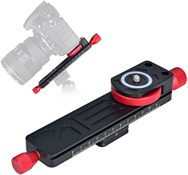 Runshuangyu Macro Focusing Focus Rail Slider Quick Release Plate 1//4 3//8 for DSLR Camera Tripod Ballhead Compatible with Arca Swiss RRS Kirk Markins