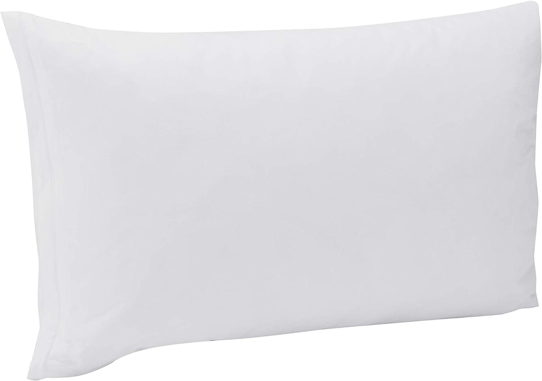 Pikolin Home - Almohada Premium, 50% plumón de oca con doble relleno, con funda lavable de 100% algodón egipcio, 40x75cm, color blanco (Todas las medidas)