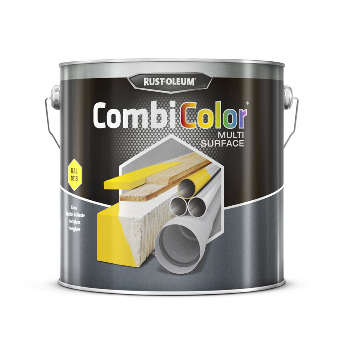 RUST-OLEUM 7343MS.2.5 Combicolor Multi-Surface, One Paint, Many Surfaces, Light yellow-RAL 1018