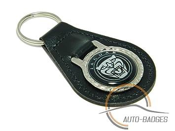 Piel Negro de calidad Jaguar Llavero: Amazon.es: Coche y moto