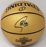 STEPHEN CURRY Autographed 2015 NBA Champions Spalding Basketball FANATICS