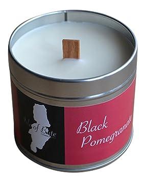 Isla de Bute Candle Company negro Granada vela en lata de viaje de lujo