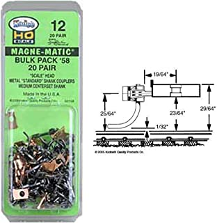 "product image for HO #58 Scale Coupler, 9/32"" Center (20pr)"