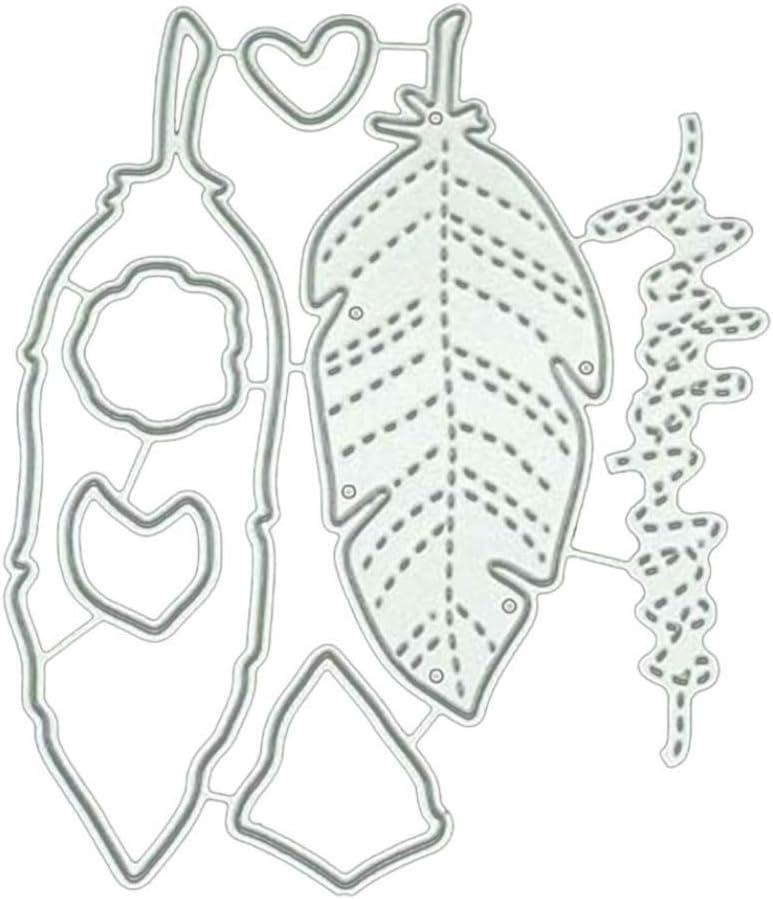 2020 New Die Cuts,dezirZJjx Leaf Cutting Dies DIY Scrapbook Emboss Paper Cards Album Craft Photo Stencil Silver