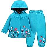 LZH babymeisjes regenjas pak waterdichte capuchon jas en broek uitloper