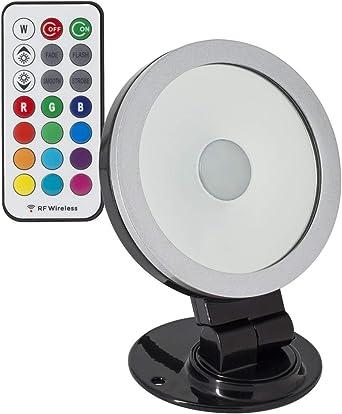 Foco Proyector LED Direccionable 360º RGB 10W Negro RGB: Amazon.es ...