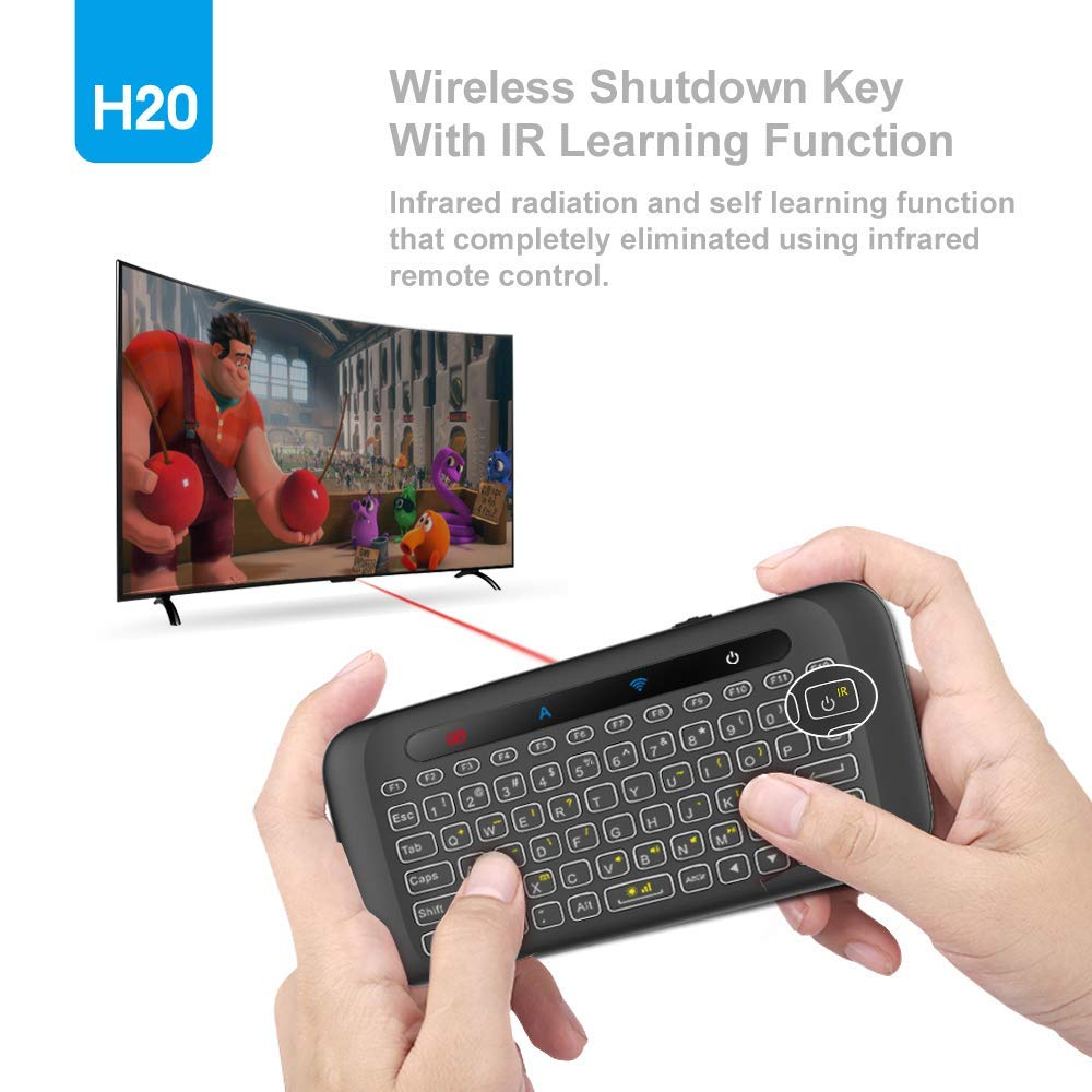 USB Rechargeable Backlit Keyboard for Android TV Box Remote Control HTPC Windows PC LinStar Multifunctional 2.4GHz Mini Wireless Keyboard with Air Remote Mouse /& Touchpad IPTV /& TV