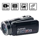 ビデオカメラデジタルカメラフル液晶 HD 18Xデジタルズームナイトビジョンビデオカムコーダー、と270度の回転画面リモートコントロール付き …
