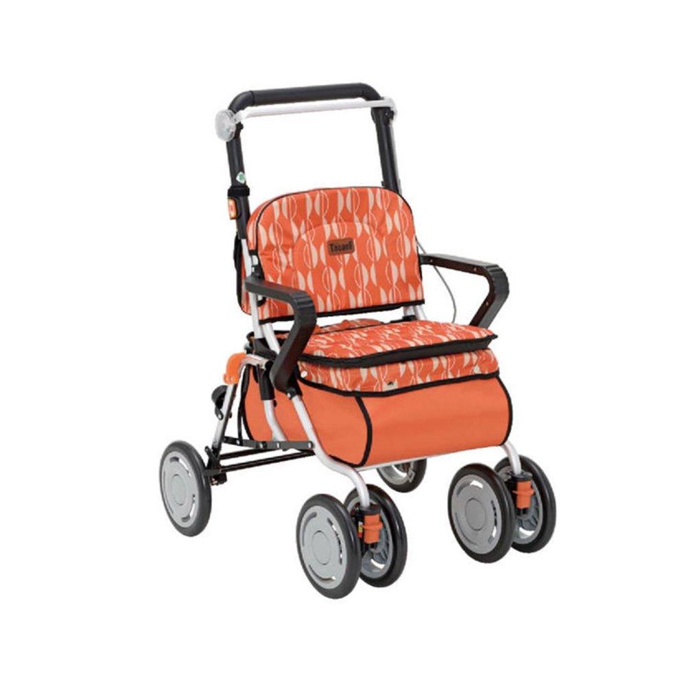 幸和製作所 テイコブ(TacaoF) レコルティII 北欧柄 シルバーカー オレンジSLT10-DA B01KL6UD2M