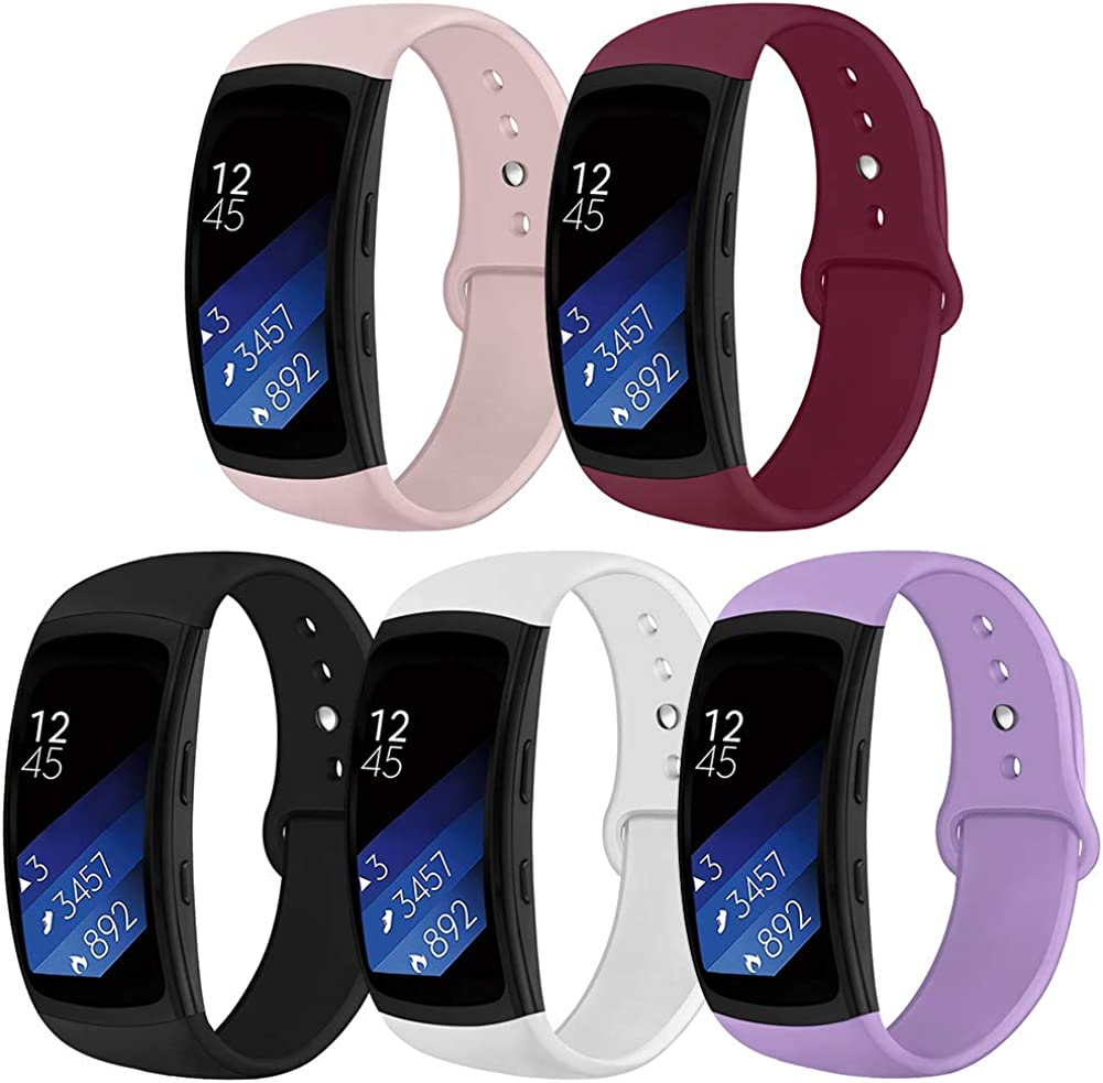 OenFoto Compatible Gear Fit2 Pro//Fit2 Band Replacement Silicone Accessories Strap Samsung Gear Fit2 Pro SM-R365//Gear Fit2 SM-R360 Smartwatch
