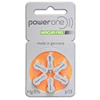 PowerOne Hearing Aid Batteries Size 13 - 10 Packs of 6 Cells