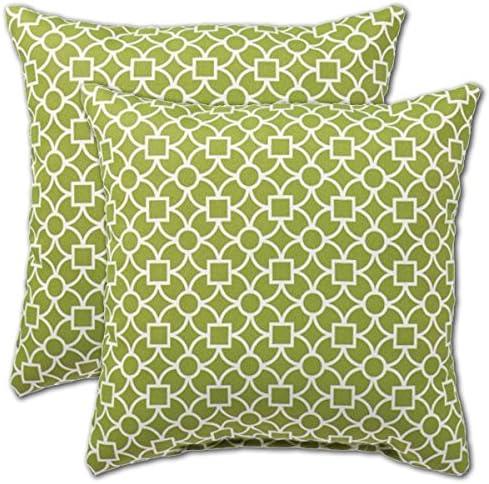 Comfort Classics Inc. Set of 2 Indoor/Outdoor Throw Pillow 12″ x 12″ x 4″
