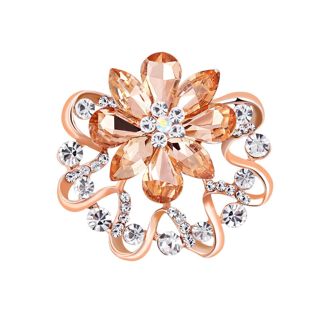 LLguz Brooch Buckle Pin,Flower Brooches Pins Boutonniere Breastpin Jewelry Clothes Costume Scarf Decoration for Bridal Ladies Women Mom Gifts Party