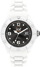 Ice Men's SIWKUS10 Ice-White Black Dial with White Bracelet Watch