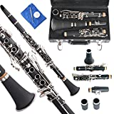 Apelila Professional Bb Clarinet Classic Music Orchestra Beginner Reed Woodwind w/Case