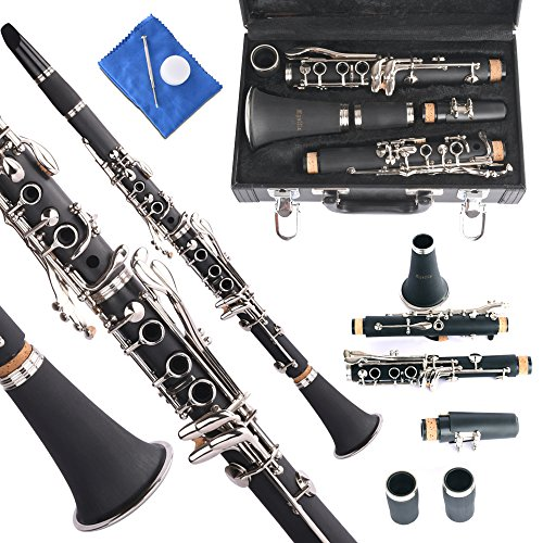 Apelila Professional Bb Clarinet Classic Music Orchestra Beginner Reed Woodwind w/Case by Apelila