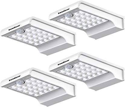 Motion Sensor 12 LEDs Solar Gutter Wall Lights Spotlights Outdoor Garden Bright