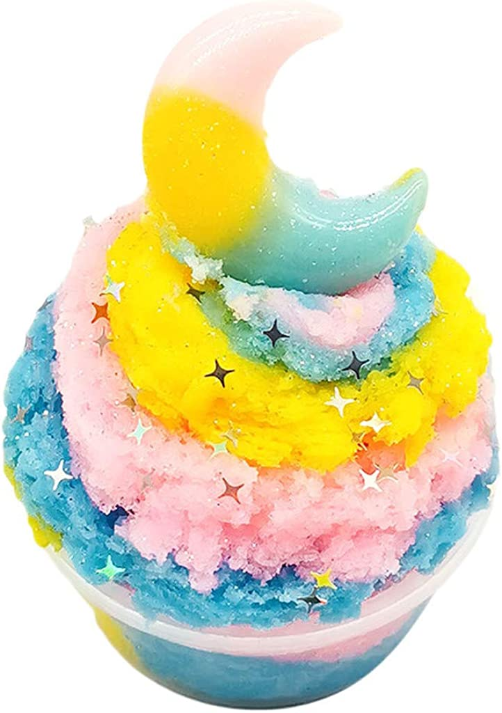 DIGOOD Beautiful Moon Colorful Cloud Slime Putty Scented Stress Kids 60ml Clay Toy