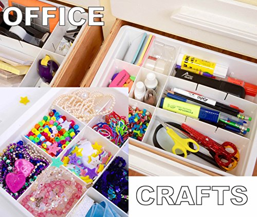 Organization Ideas For Junk Drawers: Adjustable Drawer Dividers For Utility And Junk Drawer