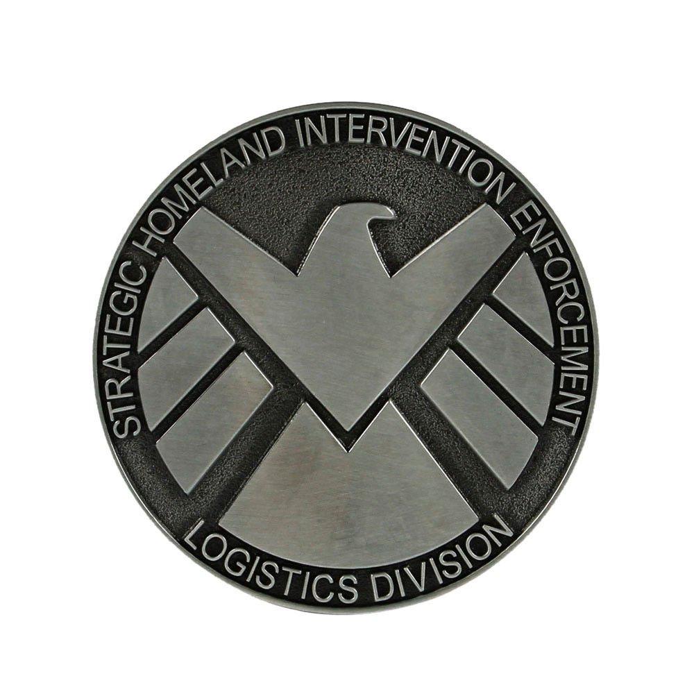 Agents Of Shield Superhero Belt Buckle S.H.I.E.L.D. Marvel Comics Strategic Homeland Intervention boucle de ceinture Choppershop