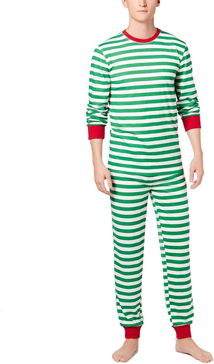 Family PJs Mens Matching Striped 2-Piece Long Sleeve Pajama Set