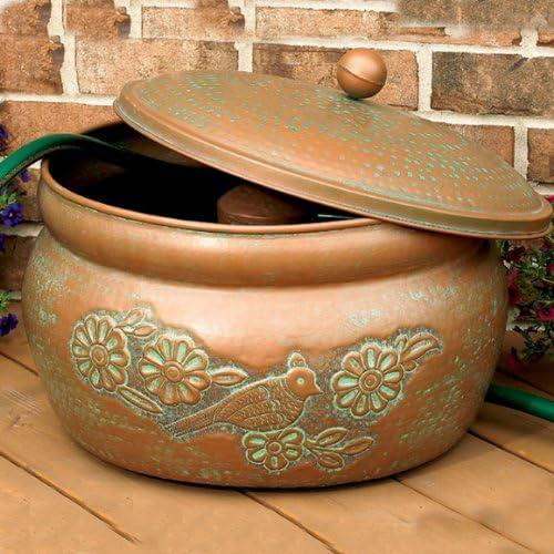 CobraCo Garden Hose Holder Storage Decorative Pot Drain Hole 150 ft Bird Motif