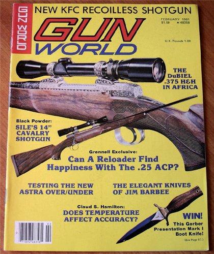 Gun World February 1981 Vol. XXI No. 6: New KFC Recoilless Shotgun