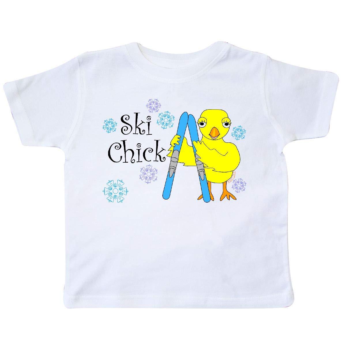 inktastic Ski Chick Text Toddler T-Shirt