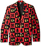 NHL Chicago Blackhawks Men's Patches Ugly Business Jacket, Size 46/Large
